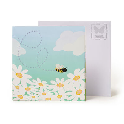 Biglietto Pop Up Large - Bees & Daisies