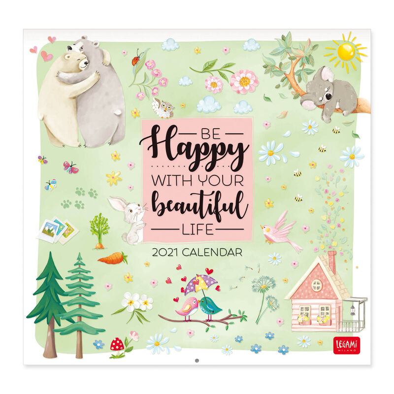 Calendario da Parete 2021  30x29 Cm LIVE HAPPY | Legami.com