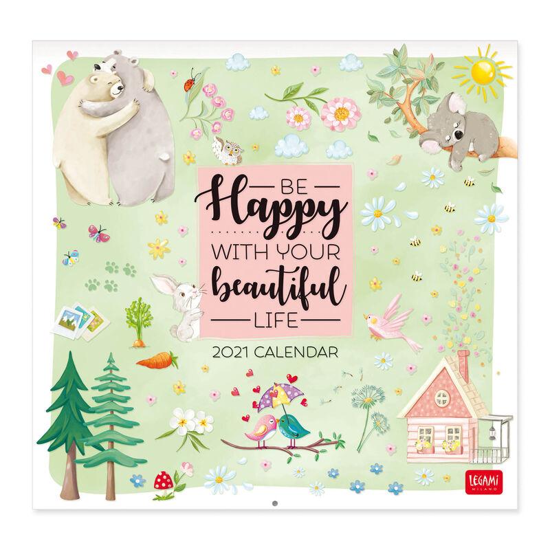 Wall Calendar 2021   30x29 Cm LIVE HAPPY | Legami.com