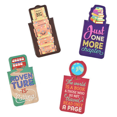 Never Stop Reading - Magnetic Bookmarks
