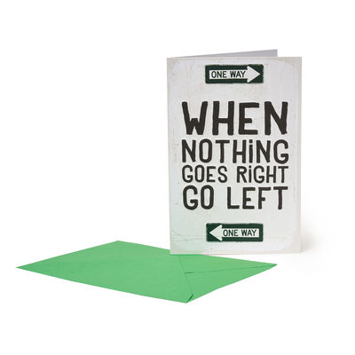 Greeting Cards - Go Left