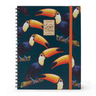 Trio - 3 In 1 Notebook With Spiral - A4, , zoo