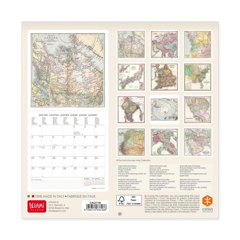 Calendario da Parete 2021 - 18x18 Cm, , zoo