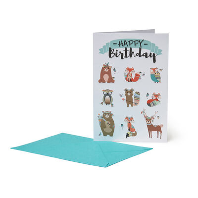 Happiness Greeting Cards - Birthday - 11,5X17 Animals