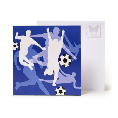 Large Pop Up Greeting Card - Soccer