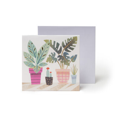 Small Pop Up Greeting Card - Potted Plants