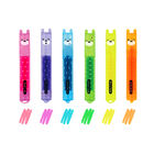 Set Of 6 Mini Highlighters, , zoo