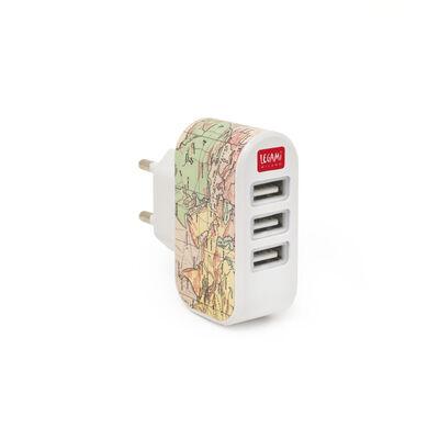 Plug &Charge - Caricabatterie da Muro - 3 USB