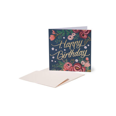 Greeting Cards - Birthday - 7X7 Vintage Flowers