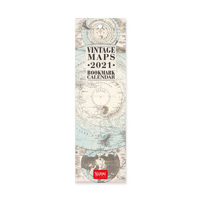 Bookmark Calendar 2021 - 55x18 Cm