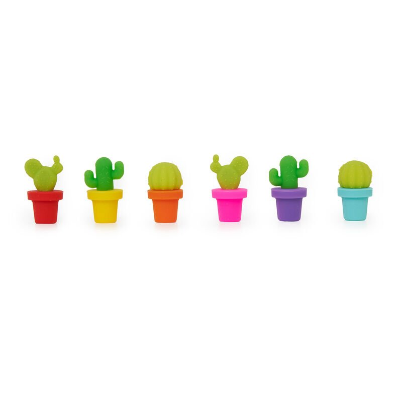 Set of 6 Drink Markers, , zoo