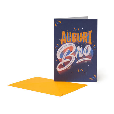 Greeting Card - Auguri Bro