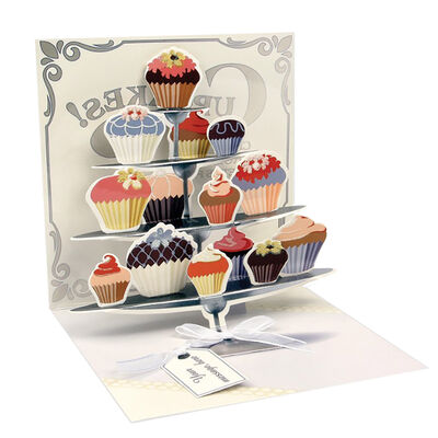 Biglietto Pop Up Large - Cupcake Tier