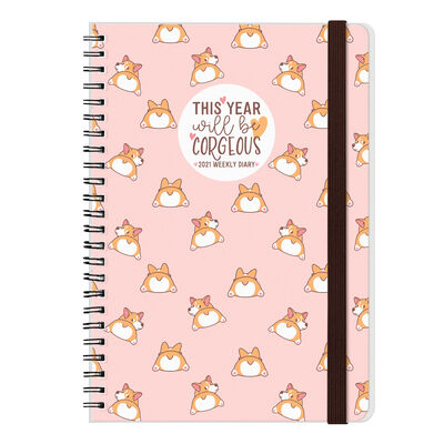 12-Month Weekly Diary - Large Spiral Bound - 2021