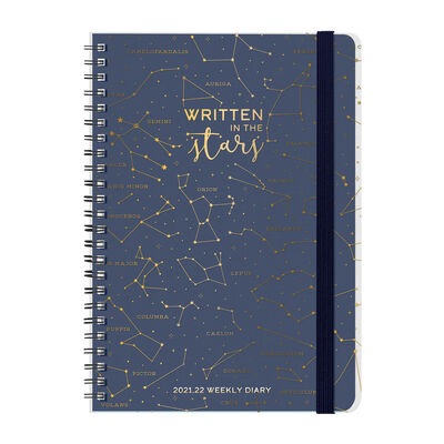 16-Month Weekly Diary - Large Spiral Bound - 2021/2022