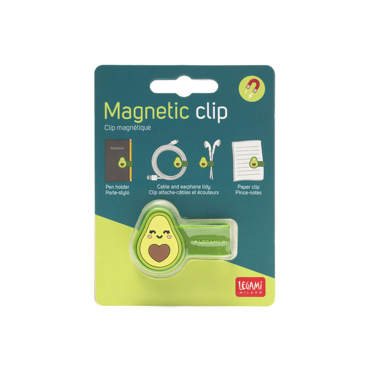 Magnetic Clip - Avocado, , zoo