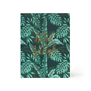 Lined Notebook Large Jungle
