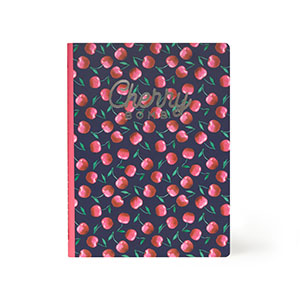Lined Notebook Large Cherry