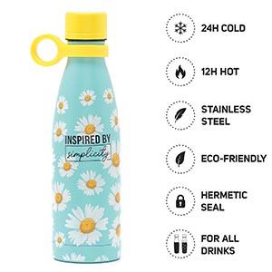 500 Ml Vacuum Bottle - Daisy